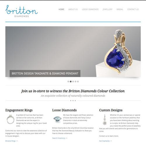 Britton Diamonds Website